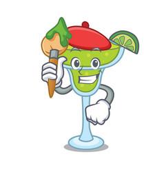 artist margarita character cartoon style vector image