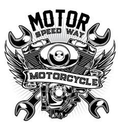Badge bike biker chopper classic club vector
