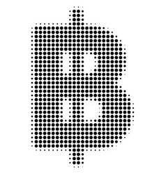 Baht halftone icon vector