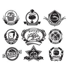 bakery labels set vector image