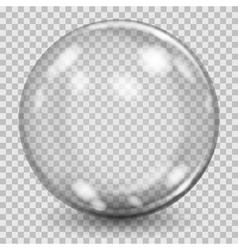 Big gray transparent glass sphere vector image