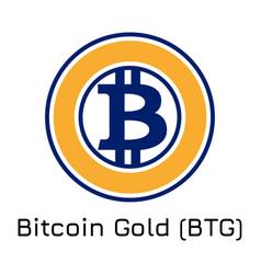 bitcoin gold btg crypto co vector image