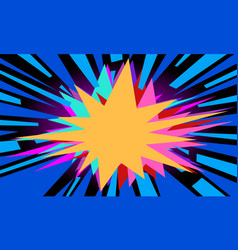 blue pop art background vector image