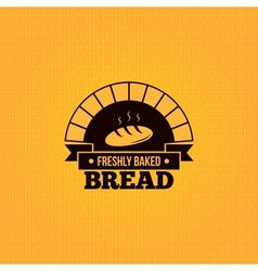 Bread vintage design menu background vector