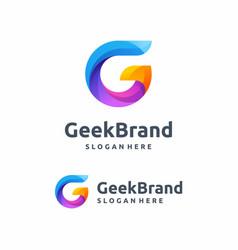 business corporate letter g logo design vector image