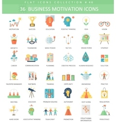 Business motivation color 36 vector