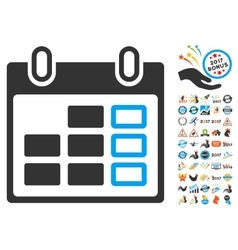 Calendar Week Icon With 2017 Year Bonus Pictograms vector