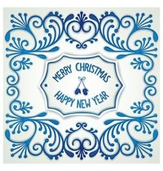 Christmas vintage ceramics signboard vector
