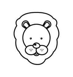 Circus lion isolated icon vector