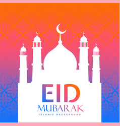 Colorful eid festival creative greeting vector