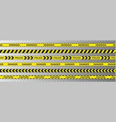 creative police line black and yellow stripe vector image