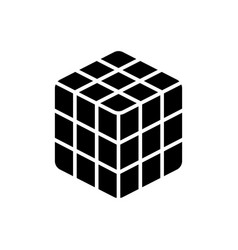 Cube rubik icon black sign vector