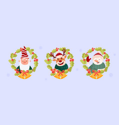 cute christmas picture vector image