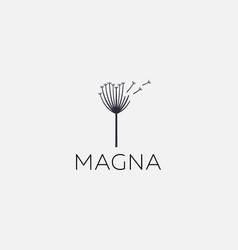 dandelion flower logo elegant vector image