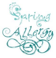 Decorative word allergy vector