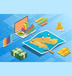 Djibouti isometric financial economy condition vector