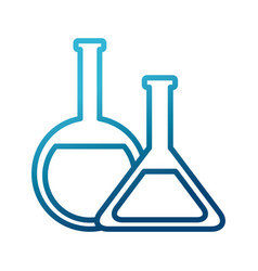Flask chemistry tools vector