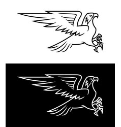 Flying eagle outline silhouette vector