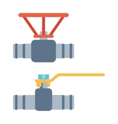 Gas or water crane flat icon vector