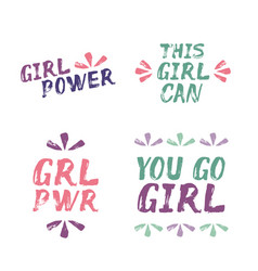 girl power this girl can you go girl - text vector image