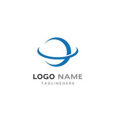 Globe tech ilustration logo vector