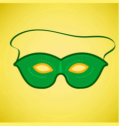 happy brazilian carnival day green carnival mask vector image