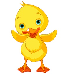 Happy Duckling vector image