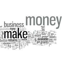 How to get ahead in life and make money vector