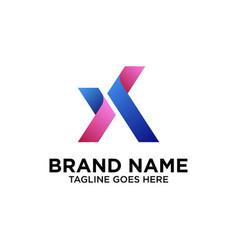 initial x logo design inspiration vector image