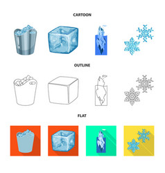 isolated object of texture and frozen logo vector image