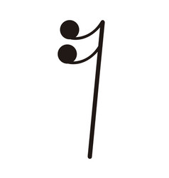 Isolated sixteenth rest note musical note vector