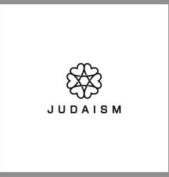 Judaism community logo design template vector