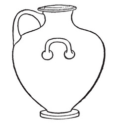 Kalpis greek vase is a type of greek pottery vector