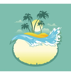 Landscape of Tropical Banner vector image