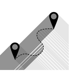 Location pin navigation map gps sign vector