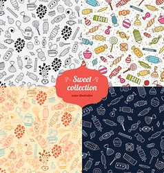 Love candy background set vector image