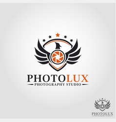 Luxury photography - phoenix studio logo - camera vector