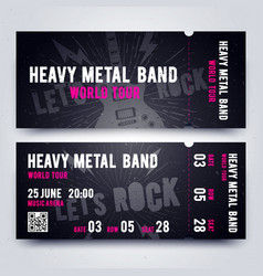 music concert ticket template for rock music vector image