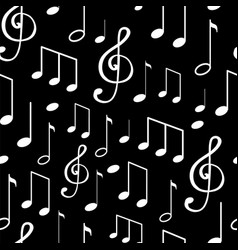 music notes notation sketches seamless pattern vector image