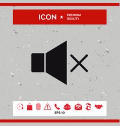 no volume icon vector image