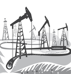 Oil BW vector