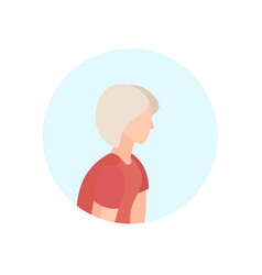 old woman profile avatar elderly grandmother vector image