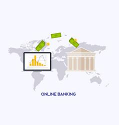 online banking concept internet banking online vector image