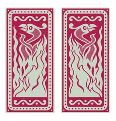 phoenix bird in scandinavian vector image