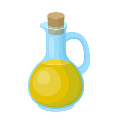 pitcher with olive oilolives single icon in vector image
