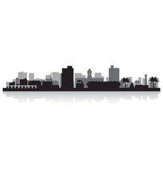 Port elizabeth city skyline silhouette vector