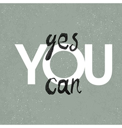 poster yes you can vector image