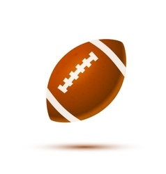 realistic rugball with shadow on white vector image