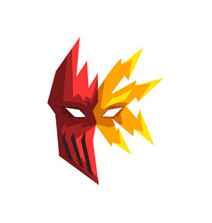Red and yellow superhero mask vector