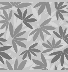 seamless grey tropical pattern silhouette vector image